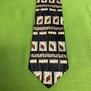 Brown diamonds silk tie